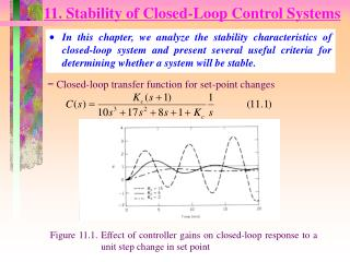 11. Stability of Closed-Loop Control Systems