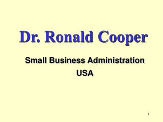 Dr. Ronald Cooper