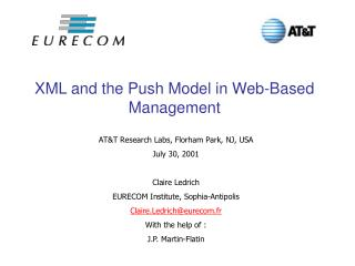 XML and the Push Model in Web-Based Management