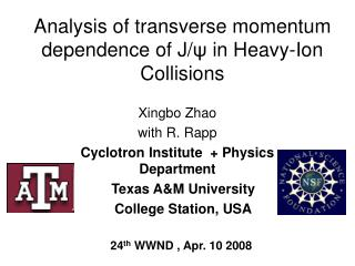 Analysis of transverse momentum dependence of J/ ψ  in  Heavy-Ion Collisions