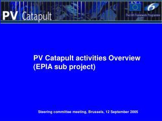 Steering committee meeting, Brussels, 12 September 2005