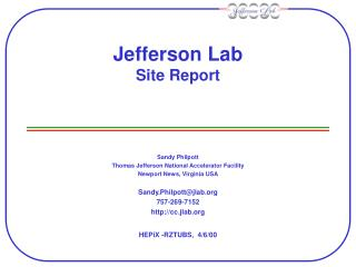 Jefferson Lab Site Report