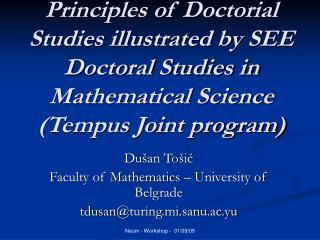 Du �an To�i? Faculty of Mathematics � University of Belgrade tdusan @turing.mi.sanu.ac.yu