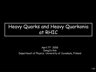 Heavy Quarks and Heavy Quarkonia  at RHIC