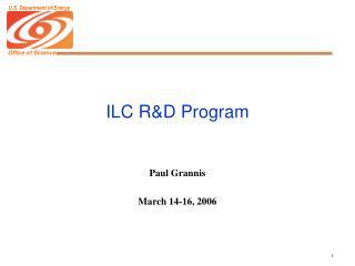 ILC R&D Program