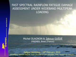 FAST SPECTRAL RAINFLOW FATIGUE DAMAGE ASSESSMENT UNDER WIDEBAND MULTIPEAK LOADING