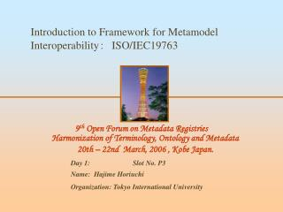 Introduction to Framework for Metamodel Interoperability ?? ISO/IEC19763