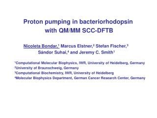 Proton pumping in bacteriorhodopsin  with QM/MM SCC-DFTB