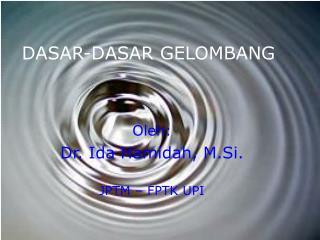 DASAR-DASAR GELOMBANG