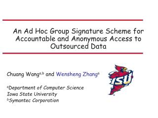 An Ad Hoc Group Signature Scheme for Accountable and Anonymous Access to Outsourced Data