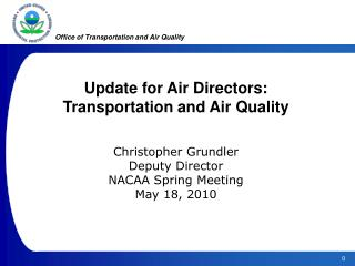 Office of Transportation and Air Quality