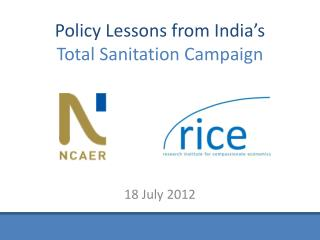 Policy Lessons from India's Total Sanitation Campaign