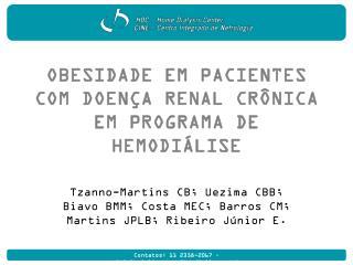 Obesidade em pacientes  com Doença Renal Crônica  em programa de hemodiálise