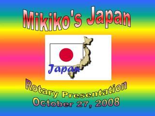 Mikiko's Japan