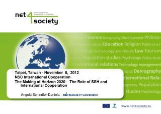 Taipei, Taiwan - November  8,  2012 NSC International Cooperation