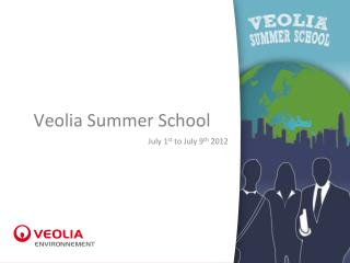 Veolia Summer School