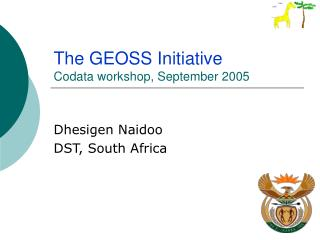 The GEOSS Initiative Codata workshop, September 2005