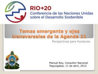 Temas emergente y ejes transversales de la Agenda 21