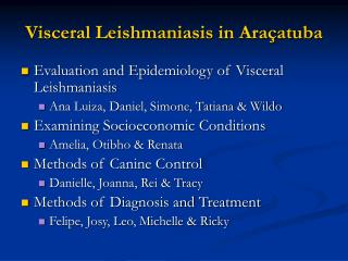 Visceral Leishmaniasis in Araçatuba