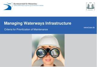 Managing Waterways Infrastructure