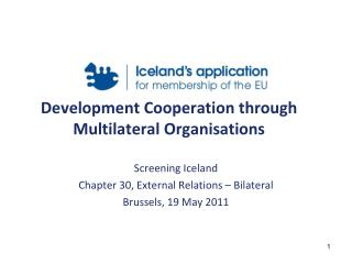 Development Cooperation through Multilateral Organisations