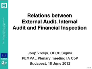 Relations between  External Audit, Internal Audit and Financial Inspection
