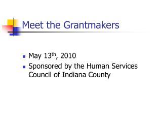 Meet the Grantmakers