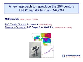 A new approach to reproduce the 20 th  century ENSO variability in an  OAGCM