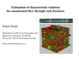 Estimation of characteristic relations  for unsaturated flow through rock fractures