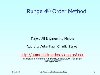 Runge 4th Order Method