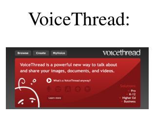 VoiceThread :