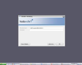 todoodle - Anmeldung