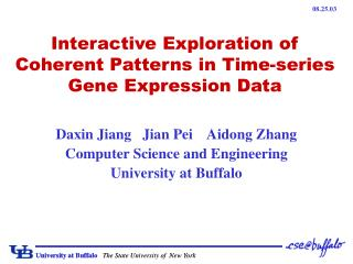 Interactive Exploration of Coherent Patterns in Time-series Gene Expression Data