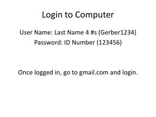Login to Computer