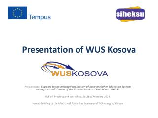Presentation of WUS Kosova