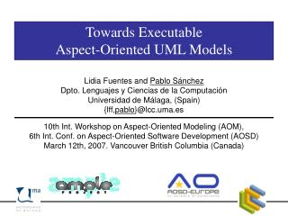 Towards Executable  Aspect-Oriented UML Models