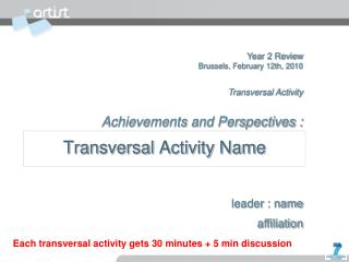 Transversal Activity Name