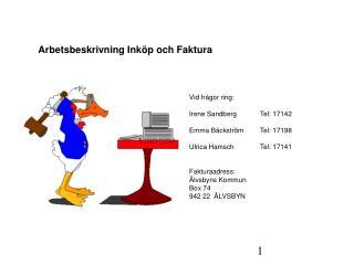 Arbetsbeskrivning Ink p och Faktura