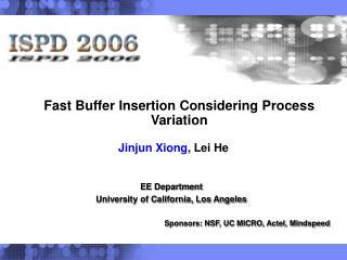 Fast Buffer Insertion Considering Process Variation