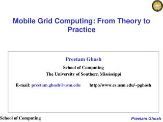 Mobile Grid Computing: From Theory to Practice