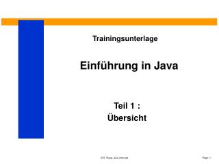 Einf hrung in Java