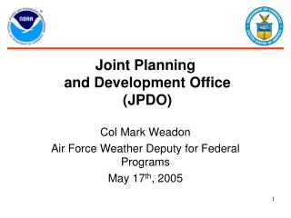 Joint Planning  and Development Office  (JPDO)