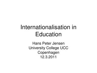 Internationalisation in Education