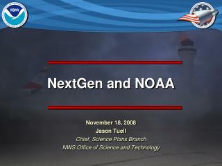 NextGen and NOAA