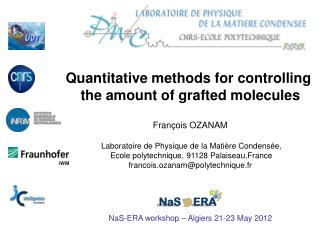Fran�ois OZANAM   Laboratoire de Physique de la Mati�re Condens�e,