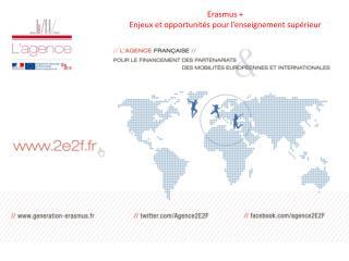 Erasmus +  Enjeux et opportunités pour l'enseignement supérieur