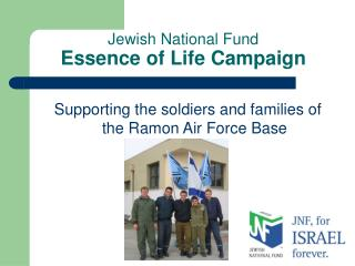 Jewish National Fund Essence of Life Campaign