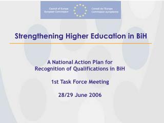 Strengthening Higher Education in BiH