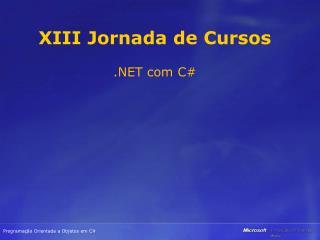 XIII Jornada de Cursos