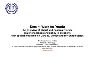 Decent Work for Youth: An overview of Global and Regional Trends